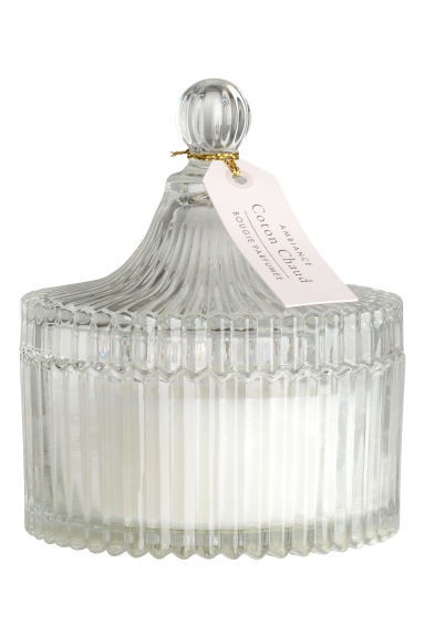 Bougie parfumée - Verre transparent/Coton Chaud - Home All | H&M FR 1