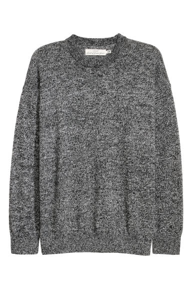 Wool-blend jumper - Grey/Black marl -  | H&M