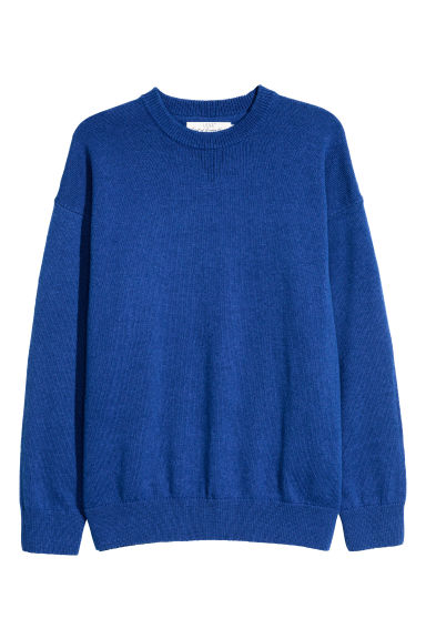 Wool-blend jumper - Bright blue - Men | H&M