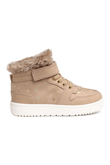 Warm-lined hi-tops - Beige/Stars - Kids | H&M