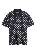 Polo shirt - Dark blue/Patterned - Men | H&M 2