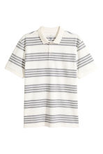 Polo shirt - White/Striped - Men | H&M 1