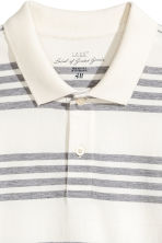 Polo shirt - White/Striped - Men | H&M CN 2