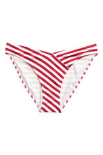 High leg bikini bottoms - White/Red stripe - Ladies | H&M CN 2