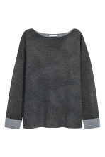 Knitted wool-blend jumper - Dark grey - Ladies | H&M 2