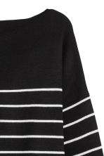 Knit Wool-blend Sweater - Black/white striped - Ladies | H&M CA 3