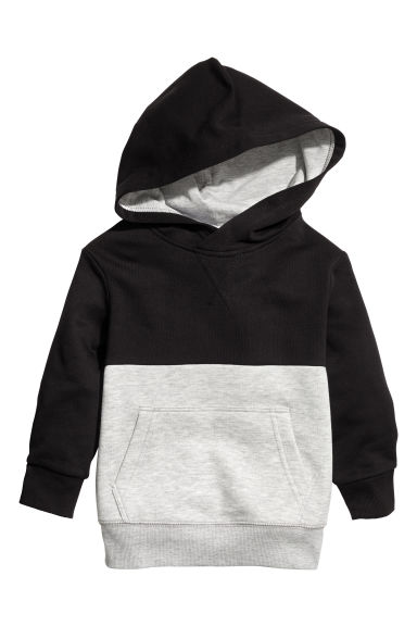 Hooded top - Black/Grey - Kids | H&M