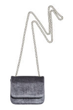 Velvet shoulder bag - Dark grey - Ladies | H&M 2