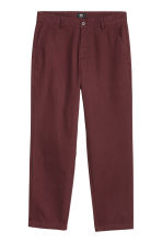 Relaxed chinos - Burgundy - Men | H&M 2