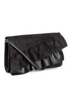 Clutch bag with frills - Black - Ladies | H&M 2