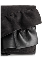Clutch bag with frills - Black - Ladies | H&M 3
