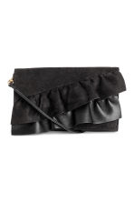 Clutch bag with frills - Black - Ladies | H&M 1