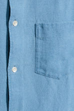 Linen shirt - Sky blue - Men | H&M CN 3