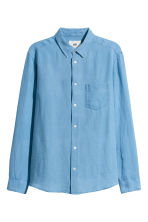 Linen shirt - Sky blue - Men | H&M CN 2