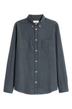 Pima cotton shirt - Dark grey-blue - Men | H&M CN 2