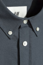 Pima cotton shirt - Dark grey-blue - Men | H&M 3