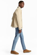 Cropped selvedge jeans - Light denim blue - Men | H&M CA 4