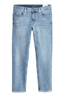 Cropped selvedge jeans
