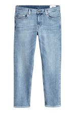 Cropped selvedge jeans - Licht denimblauw - HEREN | H&M BE 2