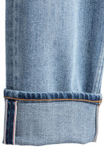 Cropped selvedge jeans - Light denim blue - Men | H&M 3