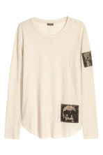 Top with patches - Cream - Men | H&M GB 2