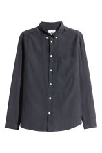 Cupro-blend shirt - Dark blue - Men | H&M 2