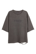 Short-sleeved top - Dark grey - Men | H&M 2