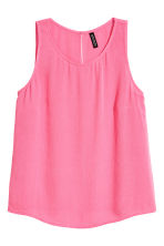 Crinkled top - Pink - Ladies | H&M CN 2