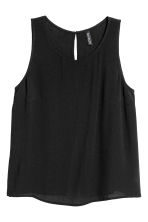 Crinkled top - Black - Ladies | H&M 2