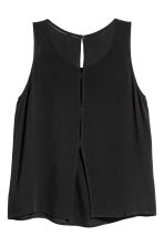 Crinkled top - Black - Ladies | H&M 3