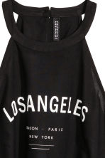 Top with Lacing - Black/Los Angeles - Ladies | H&M CA 3