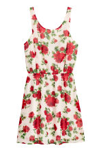Patterned dress - White/Roses - Ladies | H&M CN 2