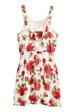 Patterned dress - White/Roses - Ladies | H&M CN 3