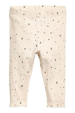 Cotton top and trousers - Natural white/Stars - Kids | H&M 2