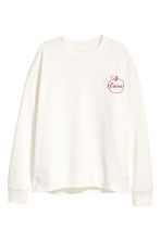Sweatshirt with Appliqué - White - Ladies | H&M CA 2