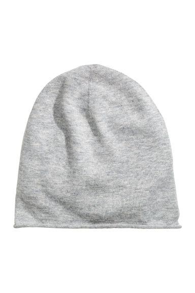 Fine-knit silk-blend hat - Grey - Kids | H&M