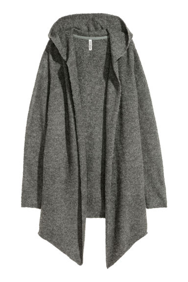 Hooded cardigan - Grey - Ladies | H&M