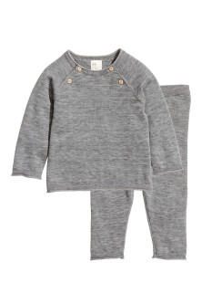 Silk-blend jumper and trousers