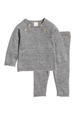 Silk-blend jumper and trousers - Dark grey -  | H&M 1