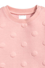 Textured dress - Light pink/Spotted -  | H&M CN 2