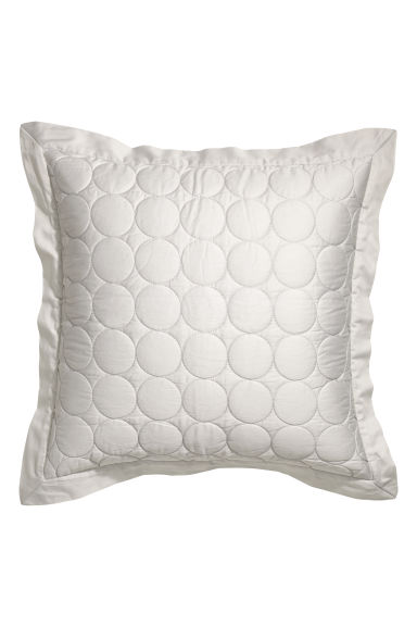 Cotton satin cushion cover - Light grey - Home All | H&M CN