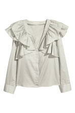Frilled blouse - Light green - Ladies | H&M IE 2