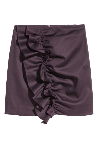 Flounced skirt - Plum - Ladies | H&M