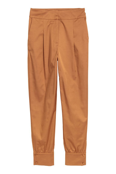 Wide trousers - Camel - Ladies | H&M