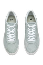 Suede trainers - Light grey - Ladies | H&M 3
