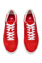 Suede trainers - Red - Ladies | H&M 3