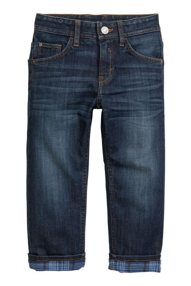 Relaxed fit Lined Jeans - Blu denim scuro - BAMBINO | H&M CH