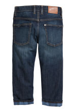 Relaxed fit Lined Jeans - Koyu kot mavisi - Kids | H&M TR 3