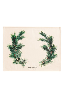 Christmas-print table mat