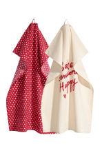 2-pack tea towels - Natural white - Home All | H&M CN 1